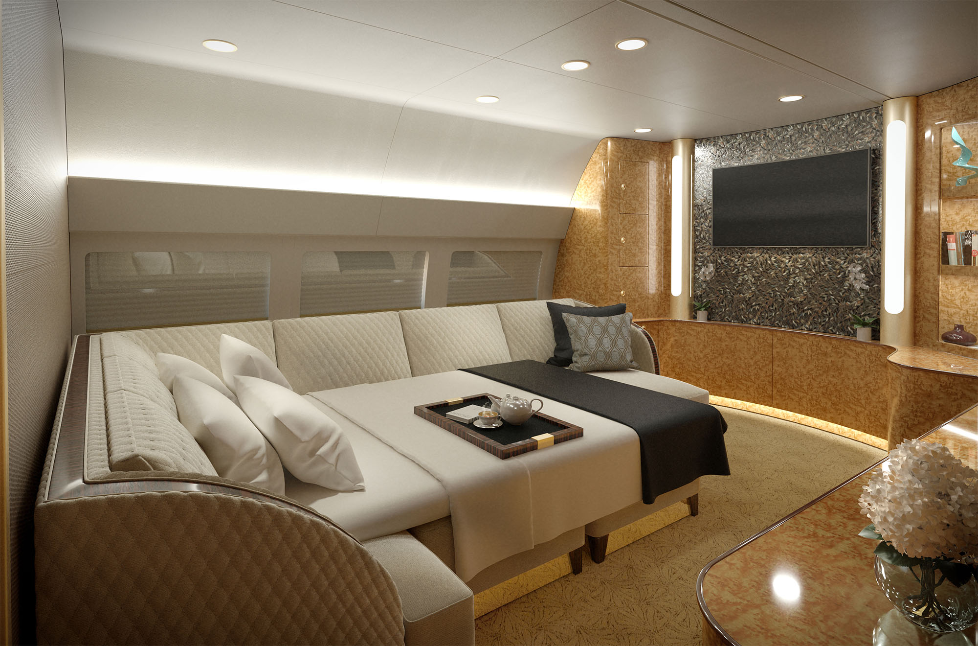SkyLady_Private Lounge-Bed
